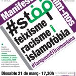 cartell mani antifeixista 21març
